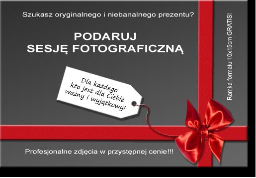 Bon prezentowy na sesję fotograficzną